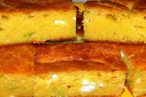 Corn bread with parsley