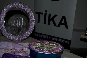 Exhibition of traditional Turkish handicrafts