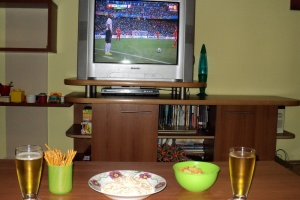Balkon 3 suggestion for a football snack: peppers and whey cheese salad