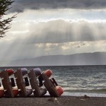 ohrid lake, pedal boats on afternoon nap