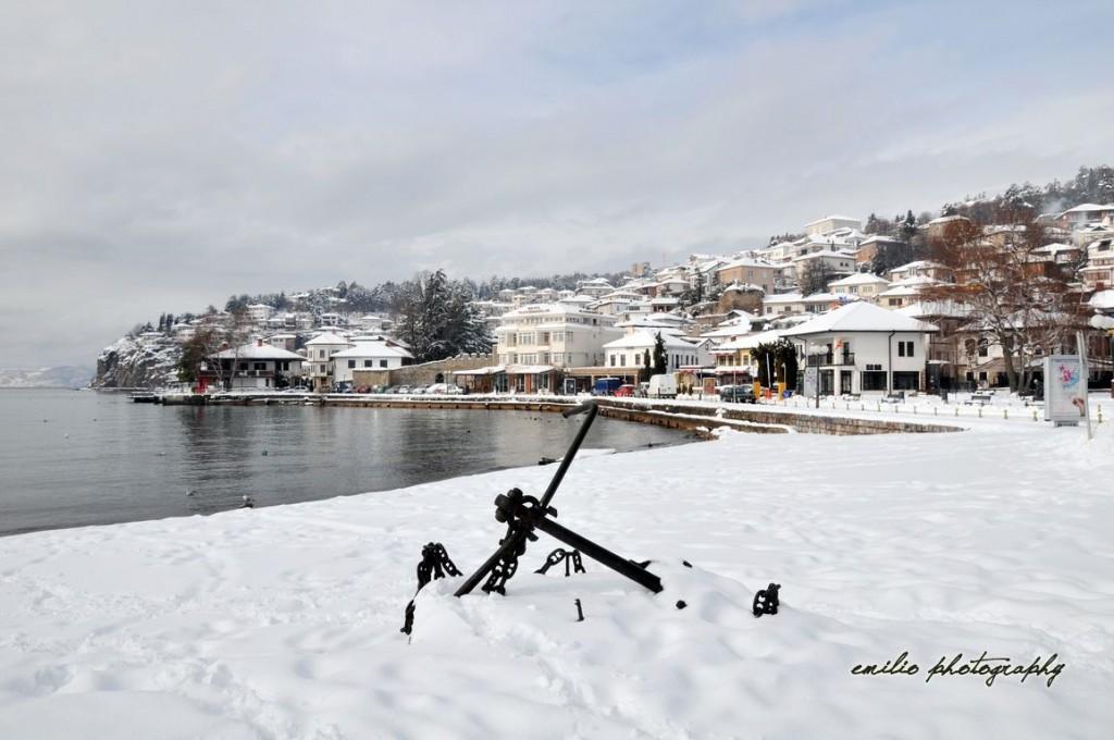 Een Winters Balkon : Rare scenary of ohrid u2013 wonderful in winter too balkon 3