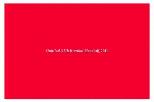 Ο τίτλος της Μπιενάλε στην Κωνσταντινούπολη  «Χωρίς τίτλο»