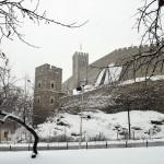 Скопска зима, бело спокојство во градскиот парк