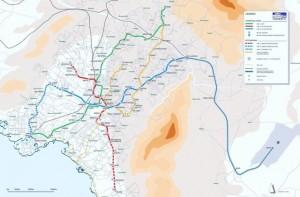 Мапа на Атинското метро