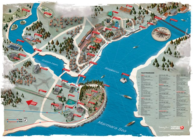 Get a taste of Istanbul in only six hours – Istanbul Tourist Attractions Map
