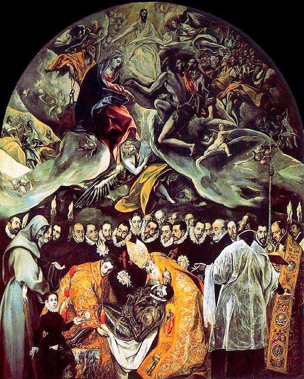 """""""Kont Orgaz'ın cenazesi"""", Toledo, İspanya"""